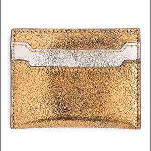 J. Crew Metallic Leather Slip Card Case
